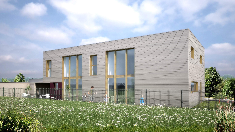gite maison passive alsace vue 3d sud est oconnel lodge. Black Bedroom Furniture Sets. Home Design Ideas